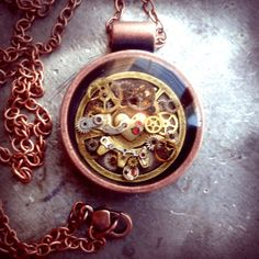 Boom.  Deep Dish Steampunk Pendant no. 2 by ColdGarageCreations on Etsy, $38.00