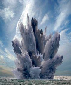 Milagros de la natraleza: una espectacular  erupción submarina en el #Hierro