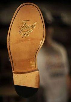 Fuck you shoe sole