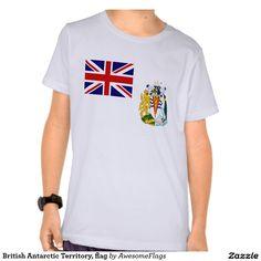 British Antarctic Territory, flag Tshirts