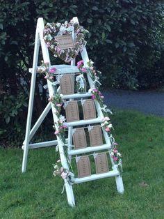 Vintage Wedding Table Plan - Ladder Hire - Wiltshire/Bristol/Somerset/Bath in Home, Furniture DIY, Wedding Supplies, Other Wedding Supplies Ladder Wedding, Wedding Props, Wedding Hire, Rustic Wedding, Diy Wedding, Wedding Ideas, Trendy Wedding, Wedding Table Planner, Wedding Planning