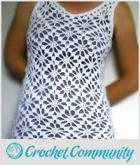 EDITOR'S CHOICE (08/26/2015) White Lacy Flower Vest by vikthehook View details here: http://crochet.community/creations/3623-white-lacy-flower-vest