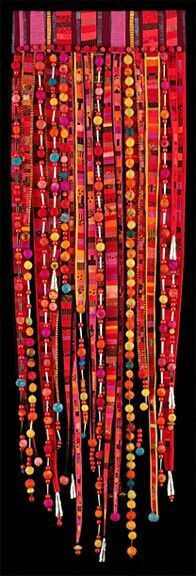 Something like this would look great hanging in a doorway like a bead curtain