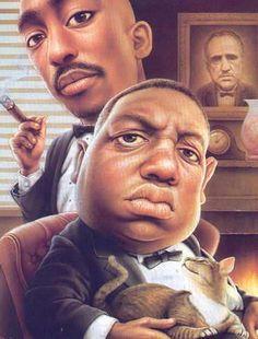 Tupac and Biggie caricature Black Love Art, My Black Is Beautiful, Cartoon Faces, Cartoon Art, Funny Faces, African American Art, African Art, Tupac And Biggie, Rapper