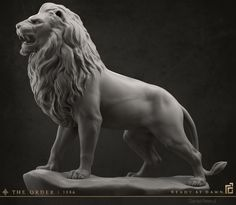 ArtStation - The Order: 1886 - Lion Statue, Daniel Peteuil Animal Statues, Animal Sculptures, Sculpture Art, Sculpture Lessons, Abstract Sculpture, Cat Statue, Dragon Statue, S Tattoo, Statue Tattoo