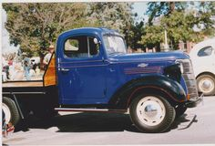 "1938 Chev series 15 (4 speed & 17"" wheels)with Holdens cab."