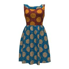 Colette Patterns Moneta Dress made with Spoonflower designs on Sprout Patterns. A perfect dress for a basketball player or fan