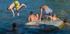 floaty concrete island – AB Concrete Design For fun time in the water