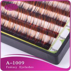 Mixed size silk eyelash Colorful False Eyelash Extension 0.1mm C Curl Double Colors in single eyelash natural false eyelashes #Affiliate