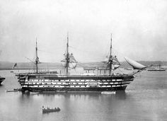HMS Implacable.  She survived the Battle of Trafalgar only for the British to capture her at the subsequent Battle of Cape Ortegal. In British service she participated in the capture of the Imperial Russian Navy 74-gun ship of the line Vsevolod in the Baltic in 1808 during the Anglo-Russian War. Later, Implacable became a training ship. Eventually, she became the second oldest ship in the Royal Navy after HMS Victory, Lord Nelson's flagship at Trafalgar.