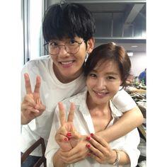 "Baekhyun - 160705 Actor Jo Minki's Instagram update: ""MoM & SoN …. 내 씨 !!!"" Credit: mingkyzio."