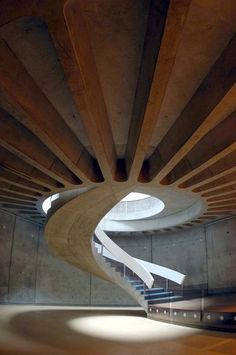 The Gallo-Roman Museum of Lyon, in osmosis with the archaeological site Architecture Concept Drawings, Stairs Architecture, Architecture Details, Interior Architecture, Interior Design, Classification Des Arts, Garde Corps Design, Lyon City, Road Trip France