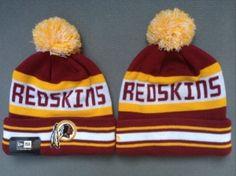 5053f6da5e079 Washington Redskins Bonnet Pompon New Era Rouge Jaune   Casquette Pas Cher