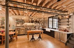 industrial loft kitchen in Washington D.C. by Bennett Frank McCarthy Architects, Inc.