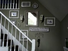 above the stairs decorating