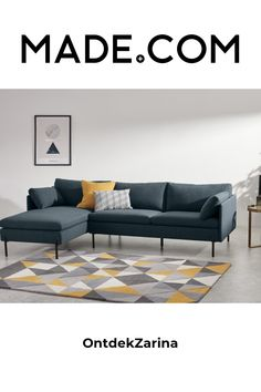 Blue Corner Sofas, Sterling Grey, Your Design, Home Furnishings, Sweet Home, Couch, Inspiration, Furniture, Home Decor