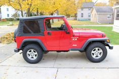 2002 Jeep Wrangler X Red 6 cylinder manual - Carsfortheconnoisseur 2002 Jeep Wrangler, Used Jeep, Clock Spring, Manual, Monster Trucks, Red, Textbook