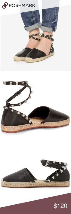 ▪️ SALE ▪️Rebecca Minkoff Gilles Espadrilles Rebecca Minkoff Gilles Studded Espadrilles in supple black leather featuring edgy studded ankle strap.  Summer's hottest trend!  NWT, never worn!  Original box included.  ▪️SALE! $120 marked down to $95▪️ Rebecca Minkoff Shoes