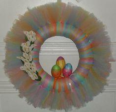Tulle Wreath Ideas | Easter Tulle Wreath | Craft Ideas