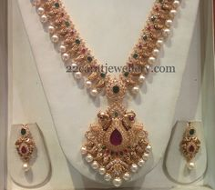 Jewellery Designs: Nakshi Finish Mango Chain with CZs