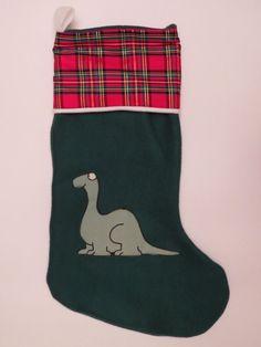 Silly 80's Dinosaur Christmas Stocking
