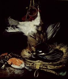 Willem van Aelst - Still Life with a dead Jay- Ashmolean Museum