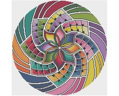 Mandala 15 - Intention - Counted Cross Stitch Pattern (X-Stitch PDF) Thanks for visiting my store! This cross-stitch pattern was personally and lovingly designed by me! Is cross-stitch where you find your zen? This beautiful but very easy pattern is inspired by classic Buddhist mandalas. I find geometric patterns to be the most enjoyable to stitch and to design, especially when they include lots of bright colors. I think this pattern works best on white-white fabric, but I've shown other…