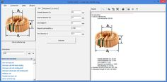 The program is coil inductance calculator, that computes inductors and chokes on different cores and also calculate LC circuit parameters. Lc Circuit, Electrical Circuit Diagram, Induction Heating, Electronics Projects, Arduino, Circuits, Dremel, Radios