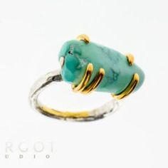 PK-HP524 luksusowy pierścionek z turkusem Designer Jewellery, Jewelry Design, Studio, Rings, Floral, Fashion, Moda, Fashion Styles, Ring
