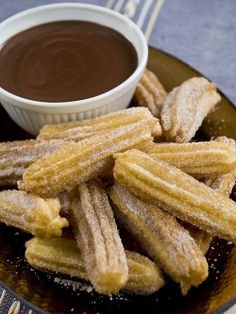 Churros (fried-dough pastry). One of our popular sweets. Usually eaten for Breakfast dipped in hot chocolate. http://www.bonderco.com/barcelona