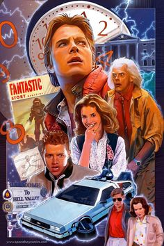 """Back to the Future Poster: In this movie, special effects became revolutionized. One of the most famous and important movies in history, """"Back to the Future"""" was a huge part of film culture. Movie Poster Art, Film Posters, Future Poster, Geek Culture, Pop Culture, Science Fiction, Bon Film, Bttf, Alternative Movie Posters"""