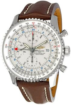 Breitling Navitimer World White Dial Mens Watch A2432212-G571BRLD #menswatchesleather