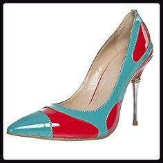 Minitoo ,  Damen Durchgängies Plateau Sandalen mit Keilabsatz , Blau - blau - Größe: 41 - Sandalen für frauen (*Partner-Link)
