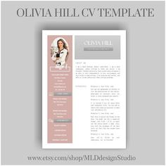 CV template 2 page template for the CV of - Bussiness Advertising Design Cv Design, Resume Design, Report Design, Graphic Design, Portfolio Layout, Portfolio Design, Cv Original, Fashion Resume, Curriculum Vitae