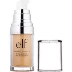 e.l.f. Beautifully Bare Foundation Serum, SPF 25, Fair/Light, 0.47 fl oz