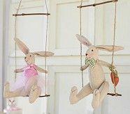 Swinging Bunny Decor | Pottery Barn Kids