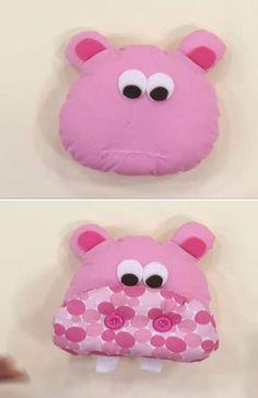 como fazer travesseiro infantil bichinho