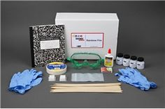 "Create your own mini fireworks display in the ""Rainbow Fire"" #physics #science Project Idea. Use a procedure similar to flame photometry to explore the color of light produced when various chemical compounds are burned. [Source: Science Buddies, http://www.sciencebuddies.org/science-fair-projects/project_ideas/Phys_p058.shtml?from=Pinterest] #STEM #scienceproject OLD KIT PHOTO / See new kit at https://store.sciencebuddies.org/Phys_p058/APE-5239-KIT/Colored-Fire-Kit.aspx?from=Pinterest"