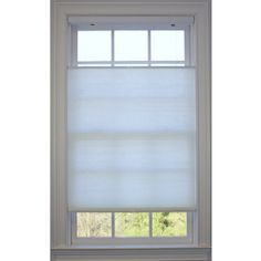Allen + Roth 32-In W X 72-In L White Light Filtering Cellular Shade Td