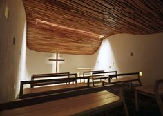 Conversion of a windowless basement classroom to a prayer chapel by architects Gensler for Biola University in California.