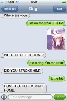#like : Text from Dog