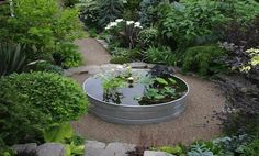 Landscape architects Buell Steelman and Rebecca Sams worked on their own garden. (via Gardenista at care2.com)