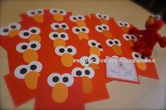 Personalized Handmade Birthday Elmo Invitation :: Sesame Street Themed Birthday - Part 2 Elmo Invitations, Personalized Cards, Birthday, Party, Handmade, Crafts, Street, Papercutting, Birthdays