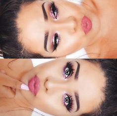 Love her makeup. Nice for spring. @sincerelyteira