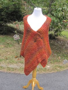 Wildfire Knit Shawl    Approx 23 x 78 inches  https://www.etsy.com/listing/109714313/wildfire-knit-shawl