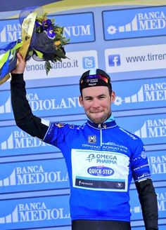 My champion @MarkCavendish in the #TirrenoAdriatico leader's Jersey today! Great job Cav! Any hopes of more wins? <3