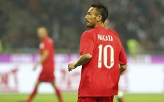 Hidetoshi Nakata looks on during the Zanetti and friends Match for Expo 2015 at Stadio Giuseppe Meazza on May 4, 2015 in Milan, Italy.