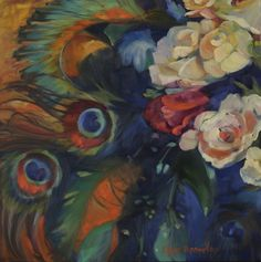 """Flowers and Feathers by Chris Brandley 
