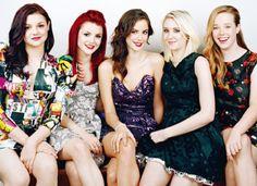 Katy, Emily, Effy, Naomi and Panda