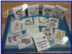 Animal Flash Cards by SilverRockDesignsGB on Etsy Rock Design, Hippopotamus, Elephant, Memories, Cats, Handmade Gifts, Silver, Animals, Memoirs